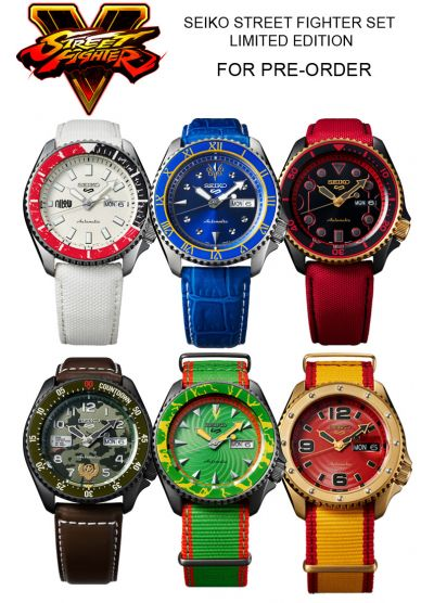SEIKO 5 SPORTS STREET FIGHTER EDITION PRODUCT SET (PRE-ORDER)